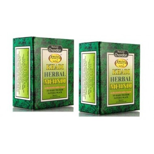 Khadi Natural™ Herbal Black Mehndi A natural dye, Henna is the major ingredient