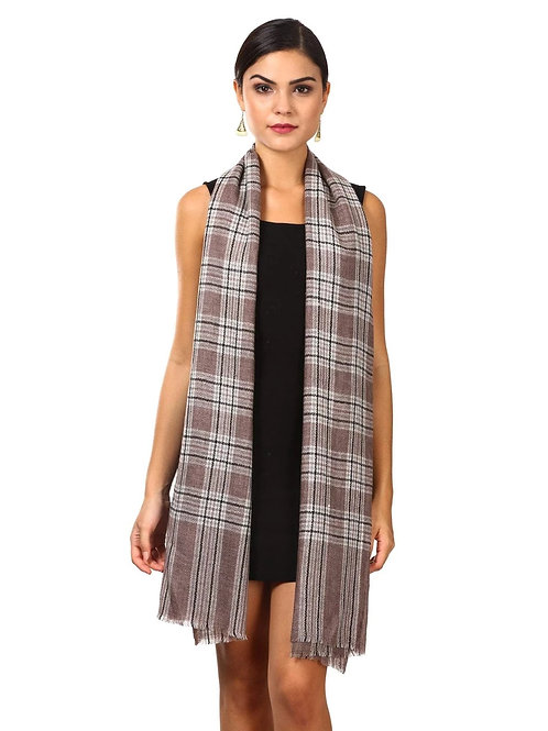 CASHMERE HANDFEEL WOOL BLENDED TARTAN MUFFLER SOFT AND WARM