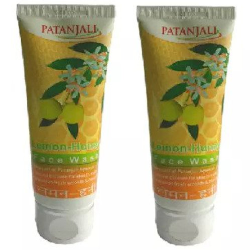 Patanjali Ayurveda Lemon Honey Face Wash Pack of 2, 60gms each