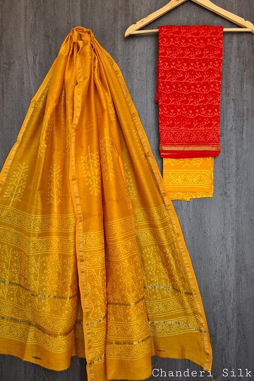 Chanderi silk suits