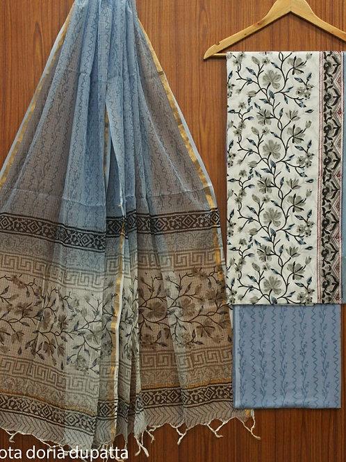 cotton suits with pure KOTA DORIA DUPPATTA