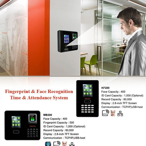 MB200  : Face + Finger + Card, attendance system