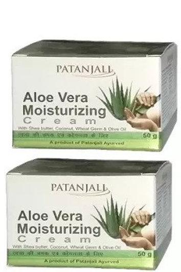 Patanjali Ayurveda Aloevera Moisturizing Cream Pack of 2, 50gms each