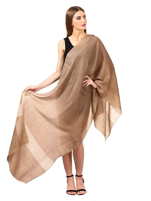 WOMEN'S REVERSIBLE STOLE WITH PAISELEY WEAVE, NUDE BEIGE, SHADES OF PASHMINA