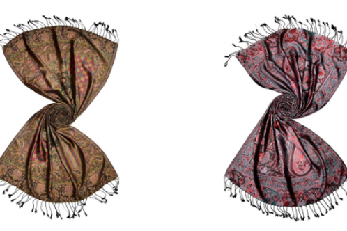 Traditional Indian Silk Jacquard Scarves