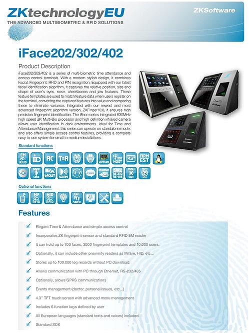 iFace302  multi-biometric identification