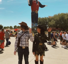 We got in the GROOVE after BIG TEX taught us some moves🤠🤠🤠