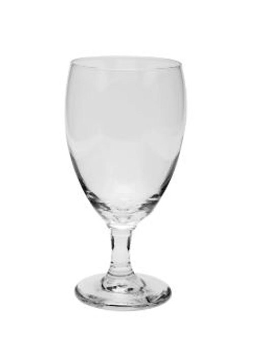 Glass water goblets