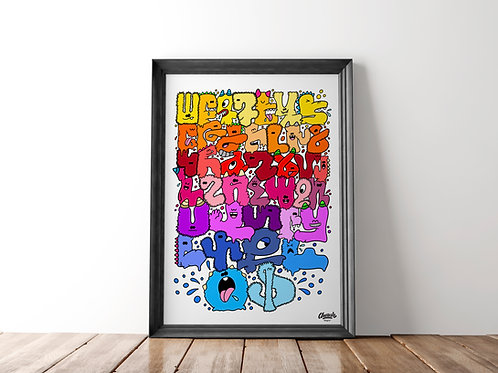 Armenian Monster Alphabet - Art Print (18x24)