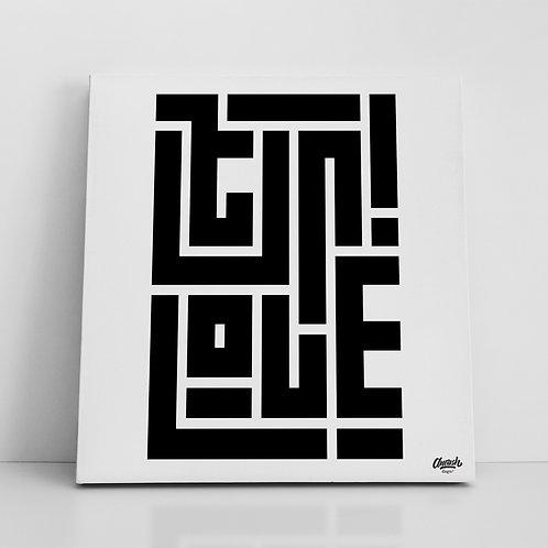 Ser/Love - Canvas Print (14x14)
