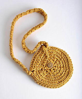 Petit sac crocheté Sunrise jaune d'or