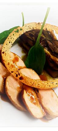 Suprème de volaille et gratin d'aubergines