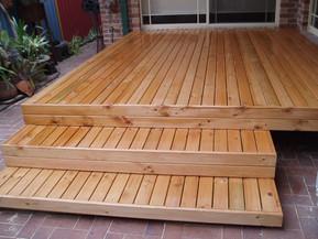 Merbau or Pine Decking