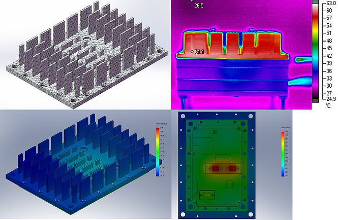 Thermal analysis FEA and IR camera results