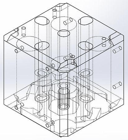 Cube shaker fixture