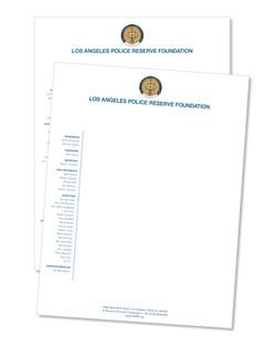 Letterhead 24lb Writing stock, printed full color 1 side
