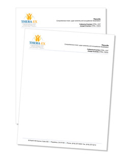 Letterhead 70lb Offset smooth printed full color 1 side