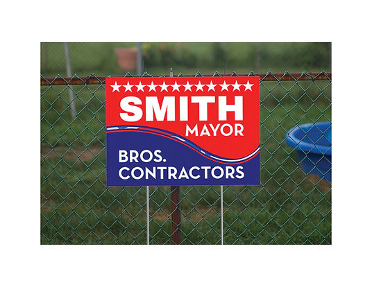 Yard Sign Coroplast w/ H Stakes