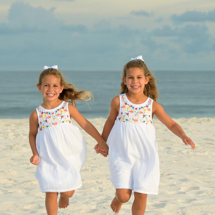 Beautiful Beach Portrait Children Perdid
