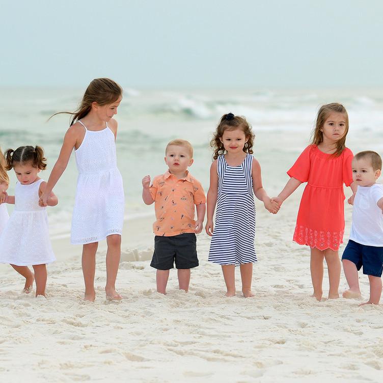 Children Family Candid Beach Portraits G