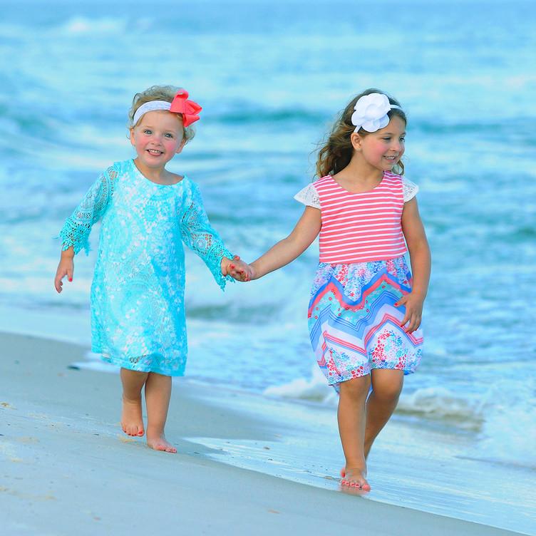 Children Action Beach Portraits Gulf Sho