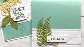 Clean + Simple Card:  Iconic Dies