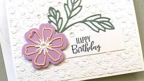 Clean + Simple Card: Perennial Petals die set