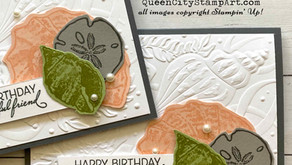 Clean + Simple Card: Friends are like Seashells - plus a class!