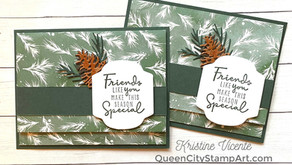 Clean + Simple Card:  Painted Christmas Gift Card Holder