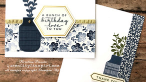 Clean + Simple Card: Boho Indigo Series...week 4