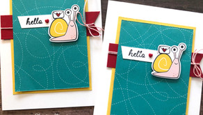 Clean + Simple Card: Snail Mail, too