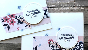 Clean + Simple Card: Paper Blooms DSP and In Bloom Stamp Set