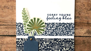 Clean + Simple Card: Boho Indigo Medley Series - Week 3