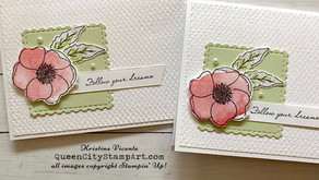 Clean + Simple Card:  Poppy Parade