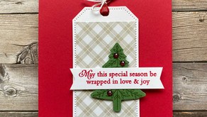 Clean + Simple Card:  Perfectly Plaid with Tailor Made Tags