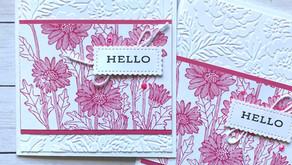 Clean + Simple Card:  Daisy Garden