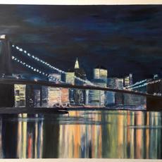 Postcard NY bridge
