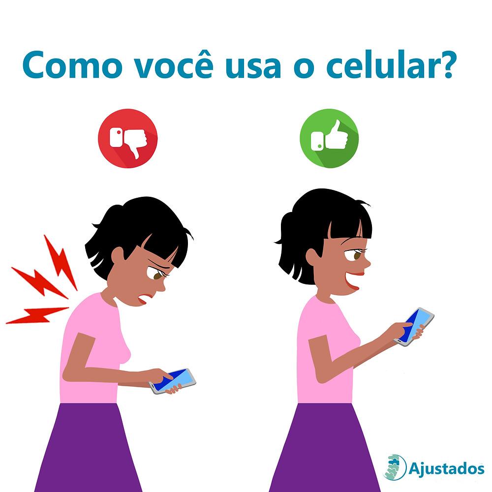 postura ao usar o celular