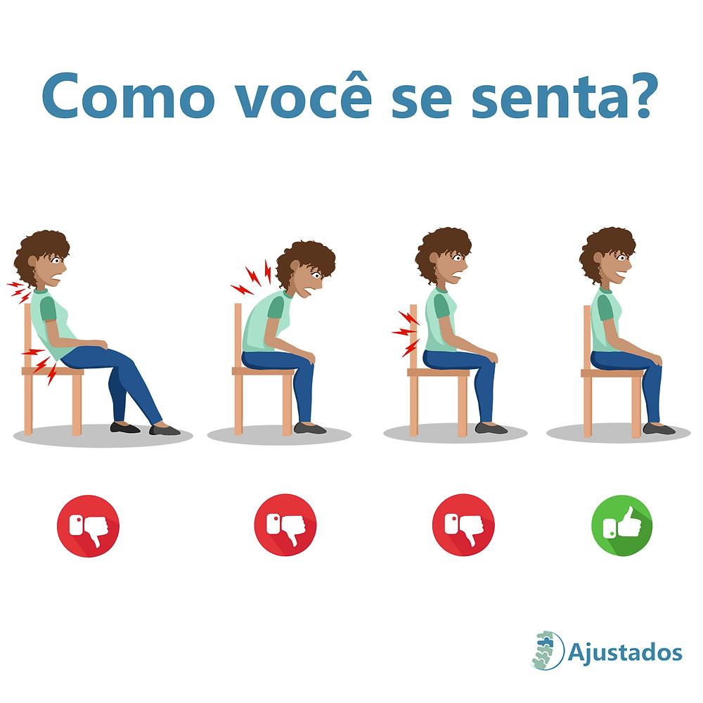 postura ao sentar