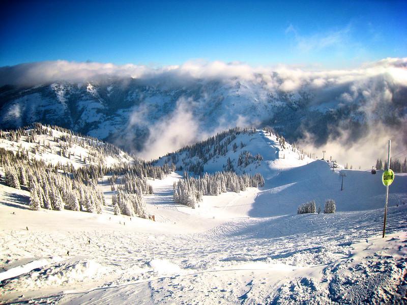 Crystal Mountain skiing on Mt. Rainier