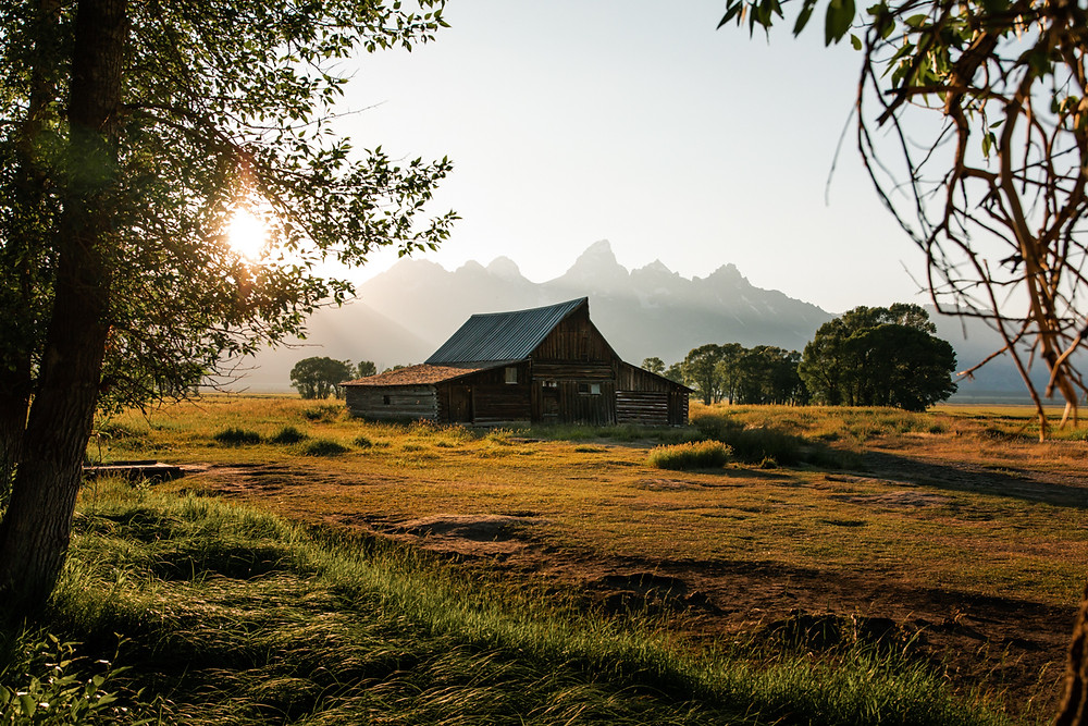 Grand Teton National Park, Tetons, Jackson Hole, Wyoming, Morton Barn, Mormon Row