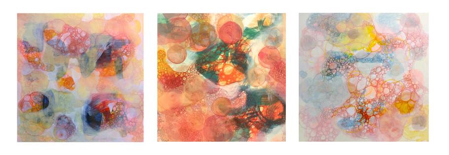 red bubble I, II, III