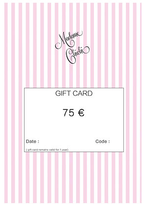Gift card 75 € ( e-mail)