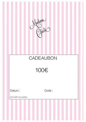 Cadeaubon 100 € ( e-mail)