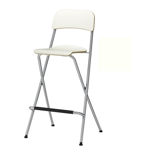 White folding bar stool