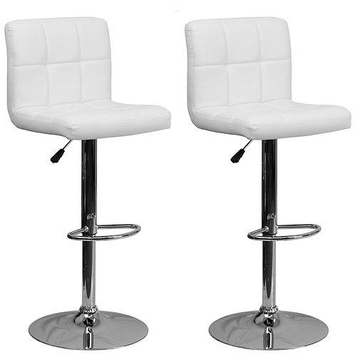 White plush adjustable stool RENTAL