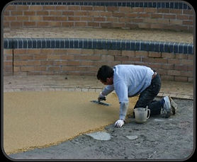 Laying a resin bound surface