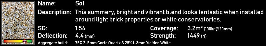 Sol - StarScape ULTRA Resin Bound Aggregate Blend