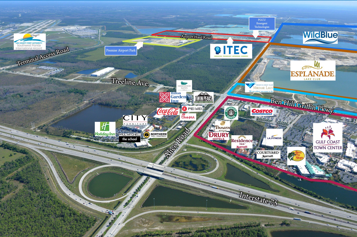 Businesses in the Alico Road Corridor