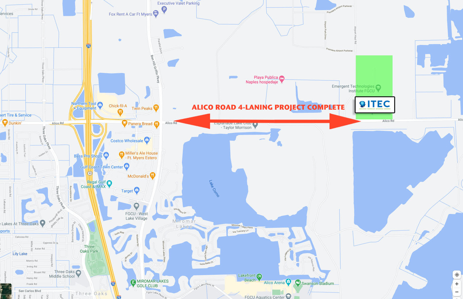Alico Road widening